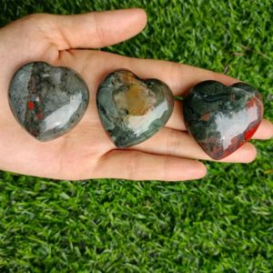 """Shop Bloodstone Shapes! Bloodstone Heart Puffy Large 40mm (1.5"""") 