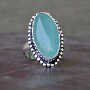 Shop Blue Chalcedony Rings! Chalcedony ring, Natural Blue Chalcedony Gemstone Ring , 925 sterling silver Ring,  14K Yellow Gold, Rose Gold Fill Jewelry | Natural genuine Blue Chalcedony rings, simple unique handcrafted gemstone rings. #rings #jewelry #shopping #gift #handmade #fashion #style #affiliate #ad