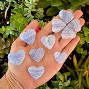 Shop Blue Lace Agate Shapes! Blue Lace Hearts, Blue Lace Agate Heart, Blue Lace Agate, Crystal Heart, Healing Crystals, Chalcedony   Natural genuine stones & crystals in various shapes & sizes. Buy raw cut, tumbled, or polished gemstones for making jewelry or crystal healing energy vibration raising reiki stones. #crystals #gemstones #crystalhealing #crystalsandgemstones #energyhealing #affiliate #ad