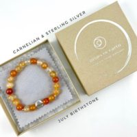 July Birthstone, Carnelian Bracelet, Sterling Silver | Natural genuine Gemstone jewelry. Buy crystal jewelry, handmade handcrafted artisan jewelry for women.  Unique handmade gift ideas. #jewelry #beadedjewelry #beadedjewelry #gift #shopping #handmadejewelry #fashion #style #product #jewelry #affiliate #ad