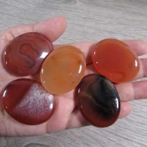 Shop Carnelian Shapes! Carnelian Flat Small Oval Palm Stone E23 | Natural genuine stones & crystals in various shapes & sizes. Buy raw cut, tumbled, or polished gemstones for making jewelry or crystal healing energy vibration raising reiki stones. #crystals #gemstones #crystalhealing #crystalsandgemstones #energyhealing #affiliate #ad