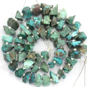 Shop Chrysocolla Chip & Nugget Beads! Good Quality 50 Pieces Natural Chrysocolla Gemstone Raw, Uneven Shape Center Drilled Rough, Size 6-8 MM Chrysocolla Raw, Making Jewelry Raw   Natural genuine chip Chrysocolla beads for beading and jewelry making.  #jewelry #beads #beadedjewelry #diyjewelry #jewelrymaking #beadstore #beading #affiliate #ad