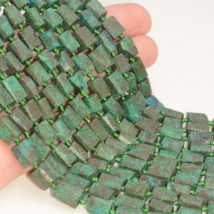"""Shop Chrysocolla Faceted Beads! Genuine Natural Rough Chrysocolla Gemstone Grade AAA Green 9×7-10x8MM Faceted Round Tube Loose Beads 16"""" LOT 1,2,6,12 and 50 (80007062-A237)   Natural genuine faceted Chrysocolla beads for beading and jewelry making.  #jewelry #beads #beadedjewelry #diyjewelry #jewelrymaking #beadstore #beading #affiliate #ad"""