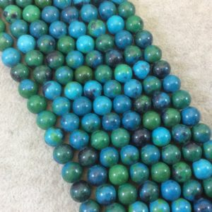 """Shop Chrysocolla Round Beads! 8mm Dyed Blue-Green Chrysocolla Smooth Glossy Round/Ball Shaped Beads with 1.5mm Holes – 7.75"""" Strand (Approx. 24 Beads) – LARGE HOLE BEADS   Natural genuine round Chrysocolla beads for beading and jewelry making.  #jewelry #beads #beadedjewelry #diyjewelry #jewelrymaking #beadstore #beading #affiliate #ad"""