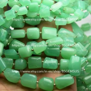 Shop Chrysoprase Chip & Nugget Beads! 8 Inch Strand,Natural Chrysoprase Smooth Nuggets Shape,Size 12-16mm | Natural genuine chip Chrysoprase beads for beading and jewelry making.  #jewelry #beads #beadedjewelry #diyjewelry #jewelrymaking #beadstore #beading #affiliate #ad