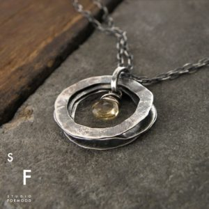 Shop Citrine Jewelry! necklace – oxidized sterling silver and citrine | Natural genuine Citrine jewelry. Buy crystal jewelry, handmade handcrafted artisan jewelry for women.  Unique handmade gift ideas. #jewelry #beadedjewelry #beadedjewelry #gift #shopping #handmadejewelry #fashion #style #product #jewelry #affiliate #ad
