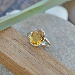 Shop Citrine Jewelry! Citrine Gemstone Ring – 925 Sterling Silver Ring -September Birthstone Ring -Solitaire Ring Jewelry -Valentine Gift Ring- Yellow Gold Ring | Natural genuine Citrine jewelry. Buy crystal jewelry, handmade handcrafted artisan jewelry for women.  Unique handmade gift ideas. #jewelry #beadedjewelry #beadedjewelry #gift #shopping #handmadejewelry #fashion #style #product #jewelry #affiliate #ad
