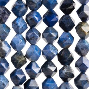 Shop Dumortierite Beads! 46 / 23 Pcs – 7-8MM Blue Dumortierite Beads Grade AAA Star Cut Faceted Genuine Natural Gemstone Loose Beads (105596) | Natural genuine faceted Dumortierite beads for beading and jewelry making.  #jewelry #beads #beadedjewelry #diyjewelry #jewelrymaking #beadstore #beading #affiliate #ad