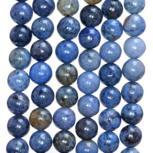 Shop Dumortierite Beads! 4mm South Africa Dumortierite Dark Blue Gemstone Blue Round Loose Beads 15 inch Full Strand (80005894-M31) | Natural genuine round Dumortierite beads for beading and jewelry making.  #jewelry #beads #beadedjewelry #diyjewelry #jewelrymaking #beadstore #beading #affiliate #ad