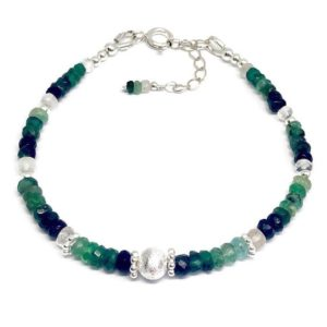 Shop Emerald Bracelets! Emerald bracelet, sterling silver, May birthstone, ombre jewellery, birthday gift, wife gift, emerald jewellery, stacking jewellery   Natural genuine Emerald bracelets. Buy crystal jewelry, handmade handcrafted artisan jewelry for women.  Unique handmade gift ideas. #jewelry #beadedbracelets #beadedjewelry #gift #shopping #handmadejewelry #fashion #style #product #bracelets #affiliate #ad
