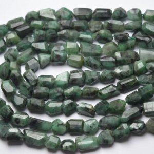 Shop Emerald Chip & Nugget Beads! 13 Inches Strand,Natural Emerald Faceted Fancy Oval Nuggets Shape Size 9-11mm | Natural genuine chip Emerald beads for beading and jewelry making.  #jewelry #beads #beadedjewelry #diyjewelry #jewelrymaking #beadstore #beading #affiliate #ad