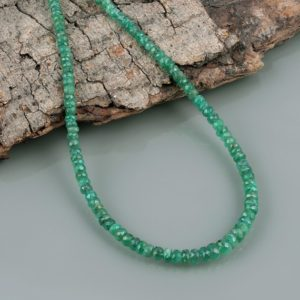 Shop Emerald Necklaces! Zambian Emerald Faceted Rondelle Necklace Green Necklace Precious Gemstone May Birthstone Necklace For Cancer Horoscopes   Natural genuine Emerald necklaces. Buy crystal jewelry, handmade handcrafted artisan jewelry for women.  Unique handmade gift ideas. #jewelry #beadednecklaces #beadedjewelry #gift #shopping #handmadejewelry #fashion #style #product #necklaces #affiliate #ad