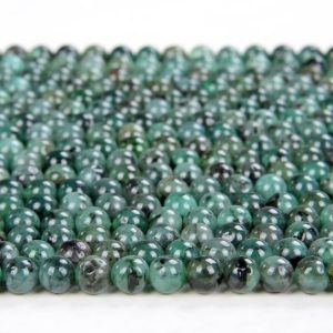 Shop Emerald Round Beads! Natural Columbia Emerald Gemstone Grade AAA Round 3MM 4MM 5MM 6MM Loose Beads (D70) | Natural genuine round Emerald beads for beading and jewelry making.  #jewelry #beads #beadedjewelry #diyjewelry #jewelrymaking #beadstore #beading #affiliate #ad