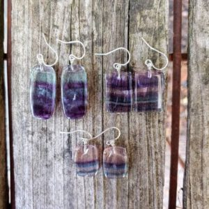 Shop Fluorite Earrings! Clearsnce sale! Sterling silver fluorite earrings   Natural genuine Fluorite earrings. Buy crystal jewelry, handmade handcrafted artisan jewelry for women.  Unique handmade gift ideas. #jewelry #beadedearrings #beadedjewelry #gift #shopping #handmadejewelry #fashion #style #product #earrings #affiliate #ad