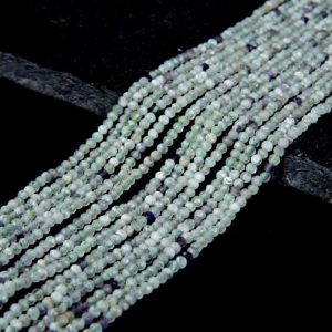Shop Fluorite Faceted Beads! 2MM Fluorite Gemstone Green Grade A Micro Faceted Round Beads 15.5 inch Full Strand (80008854-P12)   Natural genuine faceted Fluorite beads for beading and jewelry making.  #jewelry #beads #beadedjewelry #diyjewelry #jewelrymaking #beadstore #beading #affiliate #ad