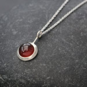 Shop Garnet Necklaces! Gift for Mom – Hessonite Garnet Necklace in Silver   Natural genuine Garnet necklaces. Buy crystal jewelry, handmade handcrafted artisan jewelry for women.  Unique handmade gift ideas. #jewelry #beadednecklaces #beadedjewelry #gift #shopping #handmadejewelry #fashion #style #product #necklaces #affiliate #ad