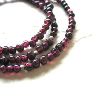 Garnet Necklace, Garnet, Garnet Jewelry, Gemstone Necklace, Birthstone Jewelry, Statement Strand Necklace, handmade jewelry, Made in USA | Natural genuine Gemstone necklaces. Buy crystal jewelry, handmade handcrafted artisan jewelry for women.  Unique handmade gift ideas. #jewelry #beadednecklaces #beadedjewelry #gift #shopping #handmadejewelry #fashion #style #product #necklaces #affiliate #ad
