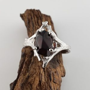 3ct Hand Cut Ant Hill Garnet, 14k Twig Engagement Ring Hand Sculpted by DV Jewelry Designs   Natural genuine Array rings, simple unique alternative gemstone engagement rings. #rings #jewelry #bridal #wedding #jewelryaccessories #engagementrings #weddingideas #affiliate #ad
