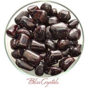 Shop Tumbled Garnet Crystals & Pocket Stones! 1 Red Fire GARNET Tumbled Stone for Capricorn Birthstone #FG09 | Natural genuine stones & crystals in various shapes & sizes. Buy raw cut, tumbled, or polished gemstones for making jewelry or crystal healing energy vibration raising reiki stones. #crystals #gemstones #crystalhealing #crystalsandgemstones #energyhealing #affiliate #ad