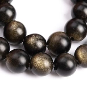 Shop Golden Obsidian Beads! 61 / 30 Pcs – 6-7MM Matte Golden Obsidian Beads Grade A Genuine Natural Round Gemstone Loose Beads (107276) | Natural genuine round Golden Obsidian beads for beading and jewelry making.  #jewelry #beads #beadedjewelry #diyjewelry #jewelrymaking #beadstore #beading #affiliate #ad