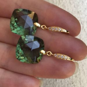 Shop Green Amethyst Earrings! Gold Green Amethyst earrings dangles.  Pave French earwires.  February birthday  stone. Gemstone jewelry. 31 carats   Natural genuine Green Amethyst earrings. Buy crystal jewelry, handmade handcrafted artisan jewelry for women.  Unique handmade gift ideas. #jewelry #beadedearrings #beadedjewelry #gift #shopping #handmadejewelry #fashion #style #product #earrings #affiliate #ad