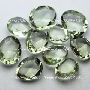 Shop Green Amethyst Beads! 10 Pcs, Natural Green Amethyst Faceted Slice Shaped, Size 10-12mm   Natural genuine faceted Green Amethyst beads for beading and jewelry making.  #jewelry #beads #beadedjewelry #diyjewelry #jewelrymaking #beadstore #beading #affiliate #ad