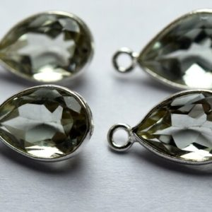 Shop Green Amethyst Beads! 925 Sterling Silver,Natural Green Amethyst Faceted Pear Shape Pendant,5 Piece Of  17mm App.   Natural genuine faceted Green Amethyst beads for beading and jewelry making.  #jewelry #beads #beadedjewelry #diyjewelry #jewelrymaking #beadstore #beading #affiliate #ad
