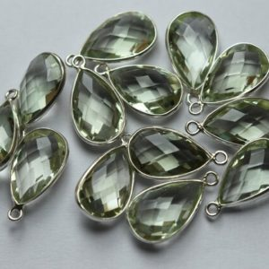 Shop Green Amethyst Beads! 925 Sterling Silver,Natural Green Amethyst Faceted Heart Shape Connector,5 Piece Of  14mm App.   Natural genuine faceted Green Amethyst beads for beading and jewelry making.  #jewelry #beads #beadedjewelry #diyjewelry #jewelrymaking #beadstore #beading #affiliate #ad