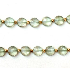 Shop Green Amethyst Beads! Natural Green Amethyst Beads,Micro Faceted,Coin Shape, 10-11mm Beads, Faceted Beads, 12 Inch Long, 24 Pieces Approx, AAA Quality, Wholesale   Natural genuine faceted Green Amethyst beads for beading and jewelry making.  #jewelry #beads #beadedjewelry #diyjewelry #jewelrymaking #beadstore #beading #affiliate #ad