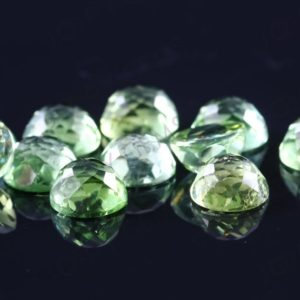Shop Green Tourmaline Stones & Crystals! Green Tourmaline Rose Cut Cabochon 6mm Round – per stone | Natural genuine stones & crystals in various shapes & sizes. Buy raw cut, tumbled, or polished gemstones for making jewelry or crystal healing energy vibration raising reiki stones. #crystals #gemstones #crystalhealing #crystalsandgemstones #energyhealing #affiliate #ad