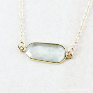 Shop Green Tourmaline Necklaces! Sage Green Tourmaline Necklace, Organic Shape, 14KT Gold Filled, Choose Your Stone | Natural genuine Green Tourmaline necklaces. Buy crystal jewelry, handmade handcrafted artisan jewelry for women.  Unique handmade gift ideas. #jewelry #beadednecklaces #beadedjewelry #gift #shopping #handmadejewelry #fashion #style #product #necklaces #affiliate #ad
