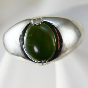 Shop Jade Rings! Jade Ring, Genuine Green Nephrite 10x8mm Oval, Mens Or Womens Ring, Set In 925 Sterling Silver Ring   Natural genuine Jade mens fashion rings, simple unique handcrafted gemstone men's rings, gifts for men. Anillos hombre. #rings #jewelry #crystaljewelry #gemstonejewelry #handmadejewelry #affiliate #ad