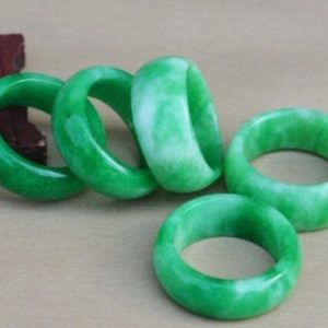 Shop Jade Rings! Jade Ring, Chunky Green Jade Ring, Chinese Solid Jade Ring   Natural genuine Jade rings, simple unique handcrafted gemstone rings. #rings #jewelry #shopping #gift #handmade #fashion #style #affiliate #ad