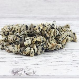 Shop Jasper Chip & Nugget Beads! Dalmatian Jasper Gemstone Beads, Crystal Chips Bag of 50 Pieces, Reiki Infused A Extra Grade Dalmatian Beads | Natural genuine chip Jasper beads for beading and jewelry making.  #jewelry #beads #beadedjewelry #diyjewelry #jewelrymaking #beadstore #beading #affiliate #ad
