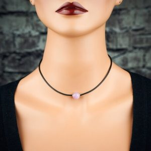 Shop Kunzite Pendants! Genuine untreated raw purple pink Kunzite pendant. Kunzite choker.  Kunzite black cord stainless steel necklace | Natural genuine Kunzite pendants. Buy crystal jewelry, handmade handcrafted artisan jewelry for women.  Unique handmade gift ideas. #jewelry #beadedpendants #beadedjewelry #gift #shopping #handmadejewelry #fashion #style #product #pendants #affiliate #ad