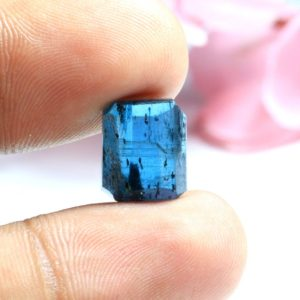 Shop Kyanite Shapes! Natural Kyanite Gemstone Rough 9.20 Carat Faceted Kyanite Rough Gemstone Ring Size Kyanite Loose Gemstone 12x10x5 mm | Natural genuine stones & crystals in various shapes & sizes. Buy raw cut, tumbled, or polished gemstones for making jewelry or crystal healing energy vibration raising reiki stones. #crystals #gemstones #crystalhealing #crystalsandgemstones #energyhealing #affiliate #ad