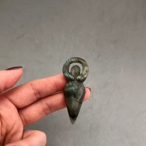 Shop Labradorite Shapes! Small Labradorite Goddess Carving | Natural genuine stones & crystals in various shapes & sizes. Buy raw cut, tumbled, or polished gemstones for making jewelry or crystal healing energy vibration raising reiki stones. #crystals #gemstones #crystalhealing #crystalsandgemstones #energyhealing #affiliate #ad
