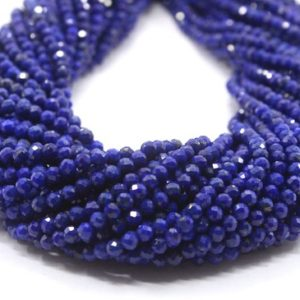 """Shop Lapis Lazuli Faceted Beads! 12.5""""Long Best Quality 1 Strand Natural Lapis Lazuli Gemstone, Faceted Rondelle Beads, Size 3 MM Rondelle Beads,Lapis Beads,Making Jewelry 