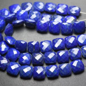 Shop Lapis Lazuli Faceted Beads! 8 Inch Strand,Natural Lapis Lazuli Faceted Cushion Shape,Size 10mm | Natural genuine faceted Lapis Lazuli beads for beading and jewelry making.  #jewelry #beads #beadedjewelry #diyjewelry #jewelrymaking #beadstore #beading #affiliate #ad