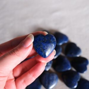 Shop Lapis Lazuli Shapes! Lapis Lazuli Hearts   Crystal Heart   Pocket Stone   Natural genuine stones & crystals in various shapes & sizes. Buy raw cut, tumbled, or polished gemstones for making jewelry or crystal healing energy vibration raising reiki stones. #crystals #gemstones #crystalhealing #crystalsandgemstones #energyhealing #affiliate #ad
