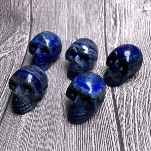 Shop Lapis Lazuli Shapes! Natural Lapis lazuli carving skull, hand made skull decor, Reiki healing crystal skull, meditating crystal,Crystal Magic, small cute skull   Natural genuine stones & crystals in various shapes & sizes. Buy raw cut, tumbled, or polished gemstones for making jewelry or crystal healing energy vibration raising reiki stones. #crystals #gemstones #crystalhealing #crystalsandgemstones #energyhealing #affiliate #ad