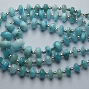 Shop Larimar Rondelle Beads! 8 Inch Strand,Finest Quality,Natural Larimar Smooth Rondelles Shape Beads,Size 8-6mm   Natural genuine rondelle Larimar beads for beading and jewelry making.  #jewelry #beads #beadedjewelry #diyjewelry #jewelrymaking #beadstore #beading #affiliate #ad