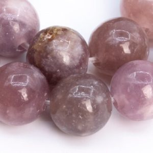 Shop Lepidolite Round Beads! 38 / 19 Pcs – 10MM Purple Pink Lepidolite Beads Grade A Genuine Natural Round Gemstone Loose Beads (112715) | Natural genuine round Lepidolite beads for beading and jewelry making.  #jewelry #beads #beadedjewelry #diyjewelry #jewelrymaking #beadstore #beading #affiliate #ad