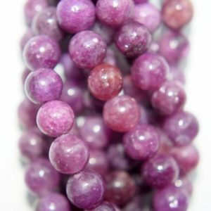 """Shop Lepidolite Round Beads! 6 Mm Natural Lepidolite Gemstone Beads – Round 6 Mm Gemstone Beads – Full Strand 15 1 / 2"""", 65 Beads, A Quality 