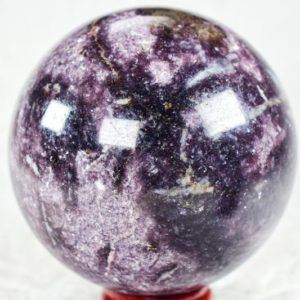 """Shop Lepidolite Shapes! Lepidolite Sphere 3.3"""" Weighs over 1.89 pounds 