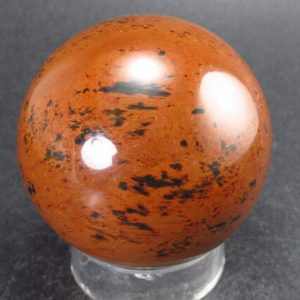 """Shop Mahogany Obsidian Shapes! Mahogany Obsidian Sphere From Mexico – 1.9""""   Natural genuine stones & crystals in various shapes & sizes. Buy raw cut, tumbled, or polished gemstones for making jewelry or crystal healing energy vibration raising reiki stones. #crystals #gemstones #crystalhealing #crystalsandgemstones #energyhealing #affiliate #ad"""