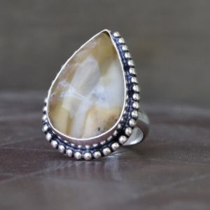 Shop Mookaite Jasper Rings! Japser ring, Natural  Pear Cab Brecciated mookaite Gemstone Ring , 925 sterling silver Ring,  14K Yellow Gold, Rose Gold Fill Jewelry | Natural genuine Mookaite Jasper rings, simple unique handcrafted gemstone rings. #rings #jewelry #shopping #gift #handmade #fashion #style #affiliate #ad