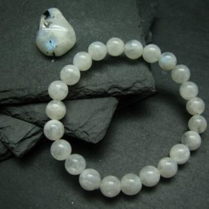 Shop Moonstone Bracelets! Moonstone Genuine Bracelet ~ 7 Inches  ~ 8mm Round Beads | Natural genuine Moonstone bracelets. Buy crystal jewelry, handmade handcrafted artisan jewelry for women.  Unique handmade gift ideas. #jewelry #beadedbracelets #beadedjewelry #gift #shopping #handmadejewelry #fashion #style #product #bracelets #affiliate #ad