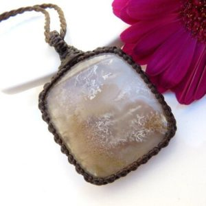 Shop Moss Agate Necklaces! Mother's Day gift, Moss Agate jewelry, Moss Agate necklace, Agate jewelry, Macrame necklace, Mother jewelry gift, free shipping, plume   Natural genuine Moss Agate necklaces. Buy crystal jewelry, handmade handcrafted artisan jewelry for women.  Unique handmade gift ideas. #jewelry #beadednecklaces #beadedjewelry #gift #shopping #handmadejewelry #fashion #style #product #necklaces #affiliate #ad
