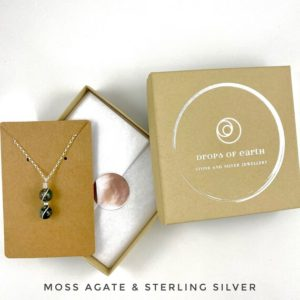 Shop Moss Agate Necklaces! Tiny Moss Agate Necklace, Succulent Necklace, Botanical necklace, Succulent jewelry,   Natural genuine Moss Agate necklaces. Buy crystal jewelry, handmade handcrafted artisan jewelry for women.  Unique handmade gift ideas. #jewelry #beadednecklaces #beadedjewelry #gift #shopping #handmadejewelry #fashion #style #product #necklaces #affiliate #ad
